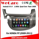 "Wecaro android 4.4.4 Direct factory 8"" car dvd gps for honda fit Steering Wheel Control 2009 2010 2011"