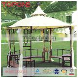 High quality oem hangzhou outdoor metal useful garden decorative gazebo
