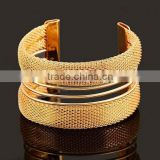 2015 Luxury Quality Magnet Wrap Genuine gold wrist band jewelry bracelets bangle pulseiras for women Luxury brand fashion open