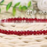 Middle Red 2mm to 12mm 64 Colors Wholesales Factory Price Loose Crystal Facted Roundelles Glass Beads for Jewelry Cheapest