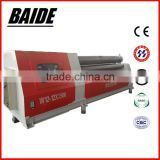 W12 series CNC 4 roller steel sheet bending machine with double pinch&stainless steel rolling machine