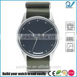 Green leather nato strap PVD stainless steel case 10ATM water resistant Miyota 3 hands movement with date