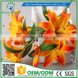 2016 Wholesale 5 heads Multicolor Artificial Flowers Lily Real Touch Bouquet Wedding Bridal Home Declarative flowers
