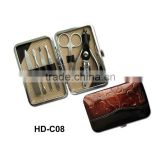 8 pcs PU box pedicure set / pedicure kit set