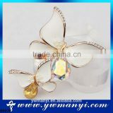 YiWu factory direct sale new brooch design acsessories butterfly style double brooch chain B0070