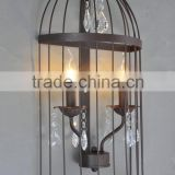 American shabby countryside vintage wall light, iron cage pendant light