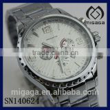 fashion 24 hours display chrono watches*men's 316L stainless steel luxury chronograph wristwatches