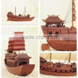 china style wooden model boat
