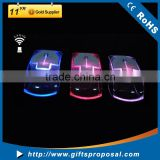 Colorful led light up transparent wireless computer mouse bling wireless transparent