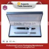Paper material satin insert pen box for double pens