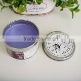 wholesale candle tin box with lid/round candle tin/perfume candle tin