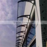 aluminum bracket and polycarbonate sheet door canopy,polycarbonate awning,rain shelter,window awning