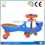 Small Kid Swing Car with hauling rope and music function, Baby swing roller with CE, EN71, SGS certificate,