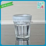 Charming Unique Design Clear Shot Glass used in bars White Wine Short Glasses for drinking wholesale