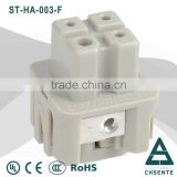 HA series electric 3 pin waterproof power connector 30a female and male insert to connectors