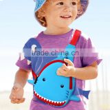 Kids Chest Bag Neoprene Waterproof Chest Bag Children's Cartoon Shark Design One Shoulder Backpack Sports Travel Bags