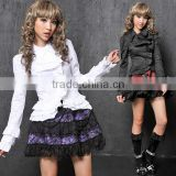 Sweet GOTHIC DOLLY PUNK Lolita CUTE LACE COLLAR SHIRT Blouse S-L 81083