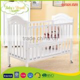WBC-07B europe style luxury golden baby crib parts, swinging baby crib