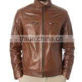 Brown Genuine Brand New Fashion Leather jacket