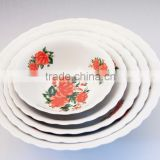 "6""/7""/8""/9"" ceramic salad bowl sets, round porcelain bowl sets,ceramic fruit bowls"