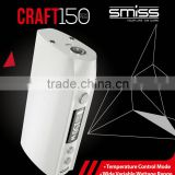 new premium E-cigarette Smiss Hot Selling Temp Control SMISS Craft Box Mod 150W Highly Accurate chipset