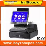 IPOS09 Big Gear Printer 405 Cash Drawer All in one Pos System For Retail Shop