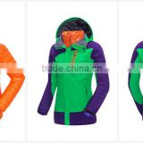 Newest windbreak waterproof TPU laminate woman ladies 3 in 1 ski jacket women sports clothes