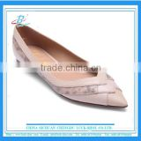 Grace lady office dress shoes Pink color women flat casual shoes lady leather flat sandals