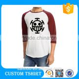 Hot Sale In 2016 Raglan T Shirt Men Cotton Raglan T Shirt 100% Cotton Raglan Baseball Tee