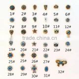 2016 Factory Supply Retro Alloy Nails, Fashion 32 designs type of nail art Decoration Metal Owl, Fish, Star Nail Art designs