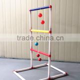 Plastic Ladder Golf Toss Game with Color Box and Plastic Frame 6 Pairs Golf/Plastic Ball