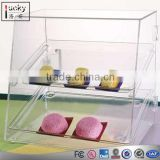 Acrylic Food Display Case with 2 Trays,Bakery Display Cases