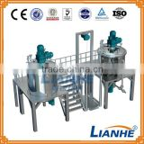 Blending tank shower gel/emulsifier mixing machin/ hand wash liquid soap making machine from Guangzhou lianhe