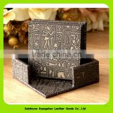16016 Claasic Egypt Pattern Square Shaped Faux Leather Table Heat Resistant Mat Cup Coffee Coaster Placemat Pad