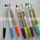 promotional plastic click pen with banner