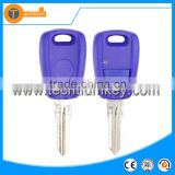 blue remote key shell with one button uncut blade with abs logo for fiat idea albea palio panda
