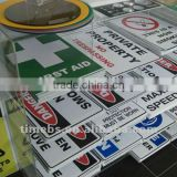 Corrugated plastic warning sign board