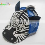 Zebra style children's baseball cap, kids hats to decorate,crazy hats for kids,kid hat