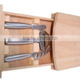 cheese knife set with bamboo cheese cutting board