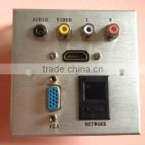 WALL PLATE VGA Female & audio & video & HDMI Female Face plate and wall socket