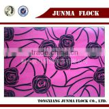 Pink Rose Flower Pattern China Supplier Flocked Fabric Used Clothing in UK London/Texas/Korea