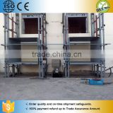 Manual platform lift/elevator vertical cargo lift/wall mounted hydraulic warehouse cargo lift