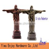 Factory outlet metal 3D famous building Multi-colored model Brasil Cristo Redentor souvenir