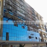 Hot sell facade panel aluminium frame glass wall with glass panel price