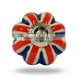 Ceramic Red And Blue Melon Knob