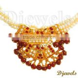 22K Kundan Diamond Necklaces, Jaipur Kundan Necklaces, 22K Gold Kundan Jewellery