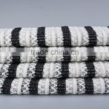High Quality Clothing Fabric Cotton Polyester Spandex Yarn Dyed Hacci Knit Jacquard Fabric