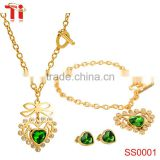 316l stainless steel fashion jewellery necklace, simple gold earring designs for women, indian jewelry set