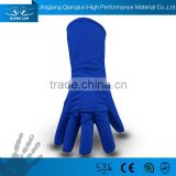 Extreme cold resistant nitrogen liquid handling freezer work gloves