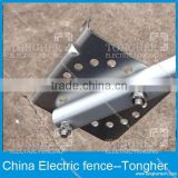 Stainless steel material electric fence posts brackets universal pedestal for safe wire fence